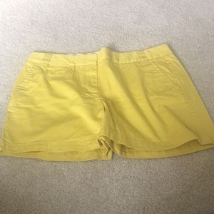J. Crew lemon shorts City Fit size 12